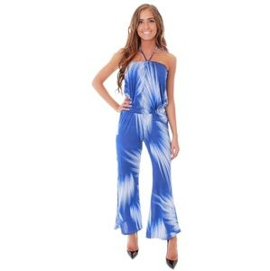 Gorgeous blue and white jumpsuit
